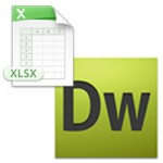 Excelで作成した表組みをDreamweaverに貼り付けてHTML化